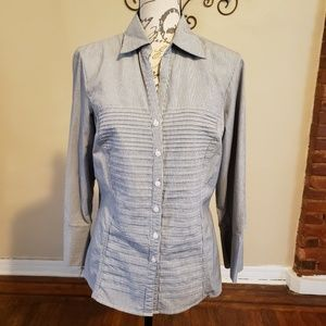 Signature By Larry Levine Strip Button Down Shirt
